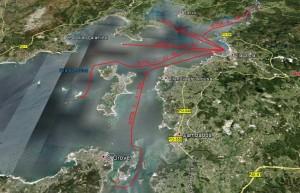 Rutas turísticas en moto nautica por la Ría de Arosa