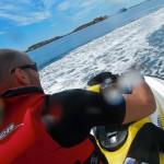 En moto acuatica por la Ría de Arosa