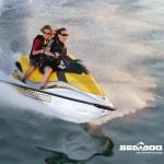 Motos de agua Sea Doo amarilla y blanca