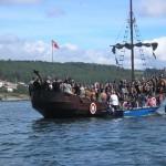 Desparrame en Romería Vikinga de Catoira